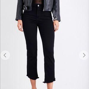 GOOD AMERICAN | Tulip-hem high-rise jeans